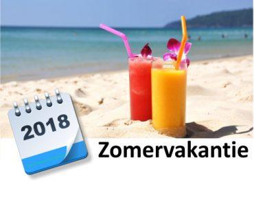 zomervakantie 2018